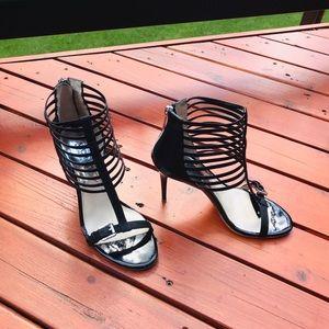 Michael Kors black patient leather sandals ..